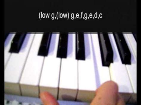 How to play EastEnders theme on the piano