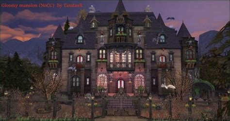Gloomy mansion by Tanitas8 Sims for The Sims 4 | Sims