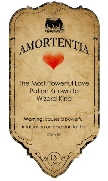 Amortentia potion label by ~rottenyouth on deviantART | We