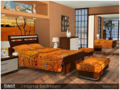The Sims Resource: Enigma bedroom by Severinka | Sims 4