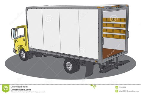 Delivery Truck Drawing Royalty Free Stock Images - Image