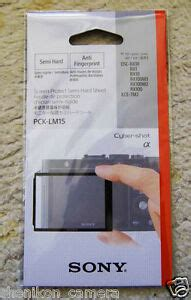 Sony PCK-LM15 LCD Screen Protect Semi Hard Sheet A7 RX1